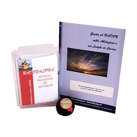 RadonAlpha - Kit singolo CR-39 per la rilevazione domestica del gas Radon X 3